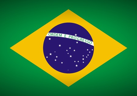 Flag of Brazil. Vector illustration.