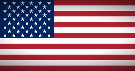 bandera estados unidos: Bandera de los Estados Unidos. Ilustraci�n del vector. Vectores