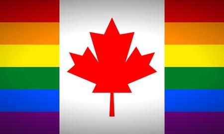 bandera gay: Canad� bandera gay. Ilustraci�n del vector.