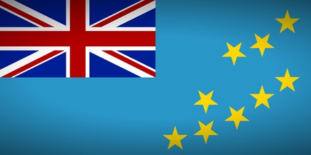tuvalu: Flag of Tuvalu. Vector illustration.