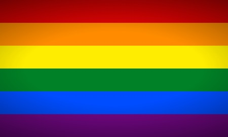 Gay vector flag or LGBT vector flag.