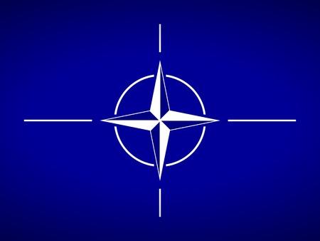 verdrag: Vlag van de Noord-Atlantische Verdragsorganisatie.