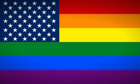 bandera gay: Bandera de los Estados Unidos Gay. Ilustraci�n del vector.