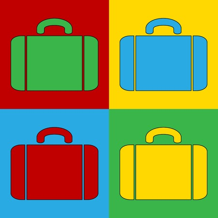 warhol: Pop art portfolio simbol icons. Vector illustration.