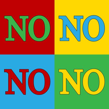 andy warhol: Pop art no symbol icons. Vector illustration.