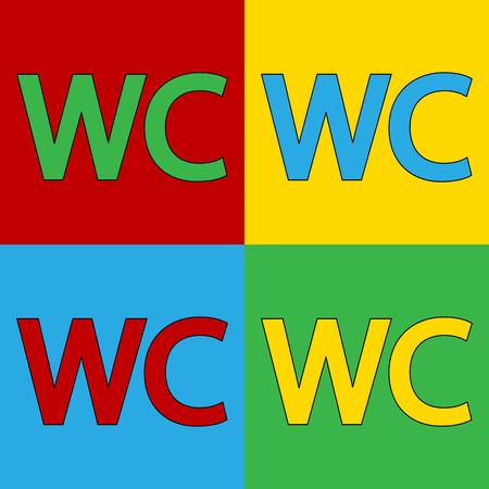 Pop art toilet symbol icons. Vector illustration. Vector