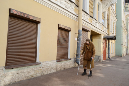 pauperism: ST.PETERSBURG, RUSSIA - 25 MAY, 2012: Street in the historic center of St. Petersburg.