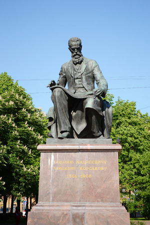 composer: ST.PETERSBURG, RUSSIA - 25 MAY, 2012: Statue of the composer Rimsky-Korsakov in the historic center of St. Petersburg.
