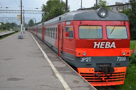 suburban: ORANIENBAUM, RUSSIA - 24 JULY 2012: Suburban electric train.