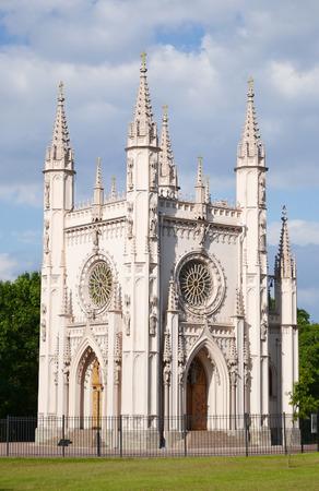 st  petersburg: Gothic Chapel in Peterhof, outskirts of St. Petersburg, Russia.