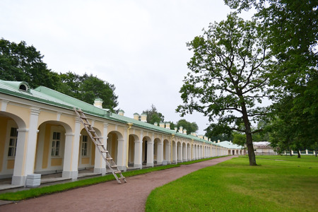 Outbuilding of Big Menshikovsky palace in Oranienbaum, outskirts of St. Petersburg, Russia.