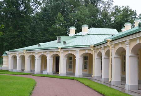 outbuilding: Outbuilding of Big Menshikovsky palace in Oranienbaum, outskirts of St. Petersburg, Russia.