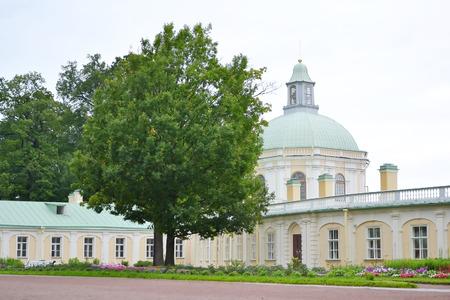 outskirts: Big Menshikovsky palace in Oranienbaum, outskirts of St. Petersburg, Russia.