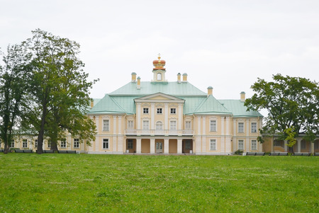 Big Menshikovsky palace in Oranienbaum, outskirts of St. Petersburg, Russia.