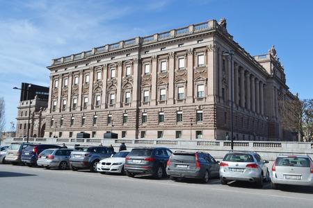 STOCKHOLM, SWEDEN - APRIL 19, 2015: Riksdagen (Swedish Parliament) in Stockholm.