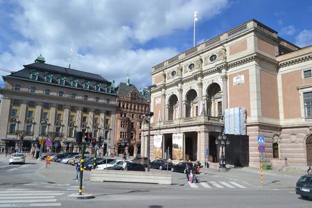 STOCKHOLM, SWEDEN - APRIL 19, 2015: Royal Opera in Stockholm, Sweden, founded in 1782.