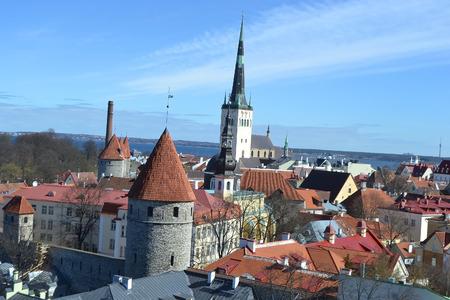 tallinn: View of Old Town in Tallinn, Estonia.