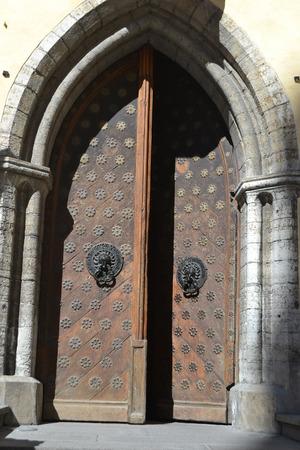 private parts: Old door in Tallinn, Estonia.