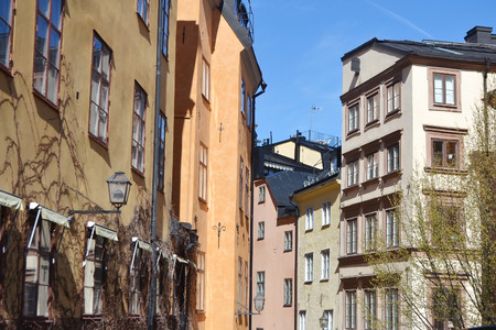 stan: Street in Old Town (Gamla Stan) of Stockholm.