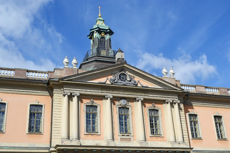 nobel: Swedish Academy and Nobel Museum on Stortorget square in Stockholm. Editorial