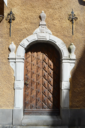 private parts: Old door in Stockholm., Sweden. Stock Photo