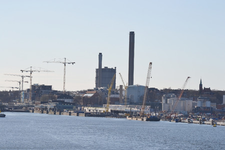 suburb: The industrial suburb of Stockholm, Sweden.