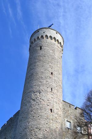herman: Tall Hermann - Toompea castle tower on the hill of Toompea in Tallinn, capital of Estonia.