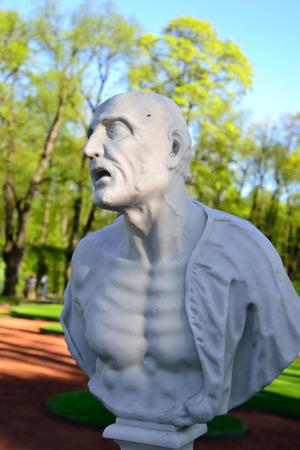 seneca: Statue of ancient Roman philosopher Seneca in Summer Garden, St.Petersburg, Russia.