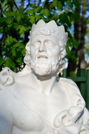midas: Statue of King Midas in Summer Garden, St.Petersburg, Russia.