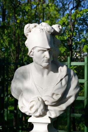 god: Statue of Mars, the god of war in Summer Garden, St.Petersburg, Russia.