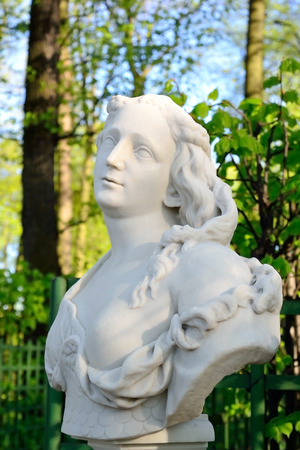 greek mythology: Statue of Amazon in Summer Garden, St.Petersburg, Russia. Amazon - in Greek mythology the people, which consisted solely of women.