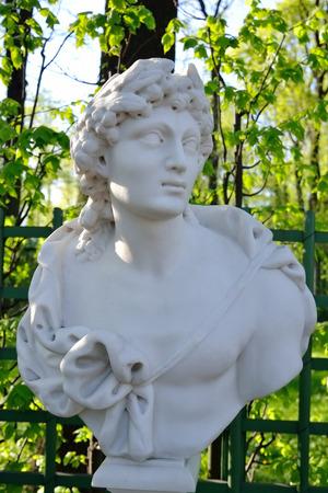 greek mythology: Statue of Apollo, the god of Greek mythology in Summer Garden, St.Petersburg, Russia.