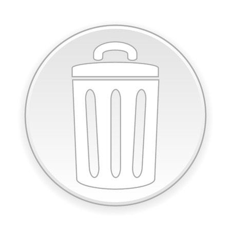 kompost: Garbage-Taste auf wei�em Hintergrund. Vektor-Illustration. Illustration