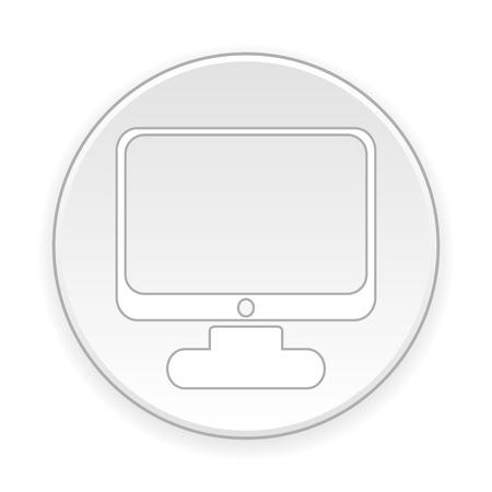 computer button: Computer button on white