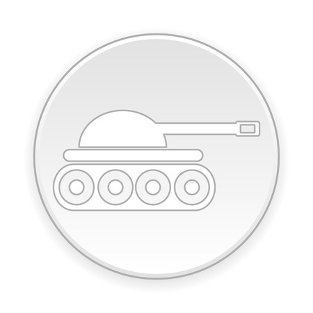 turret: Panzer button on white background. Vector illustration. Illustration