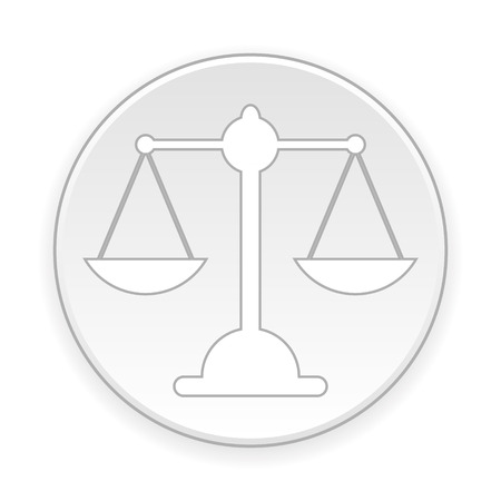 acquit: Scale button on white background. Vector illustration. Illustration