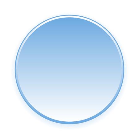 blue button: Blank blue button on white. Vector illustration. Illustration