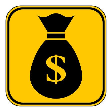 success control: Money button on white background. Vector illustration. Illustration