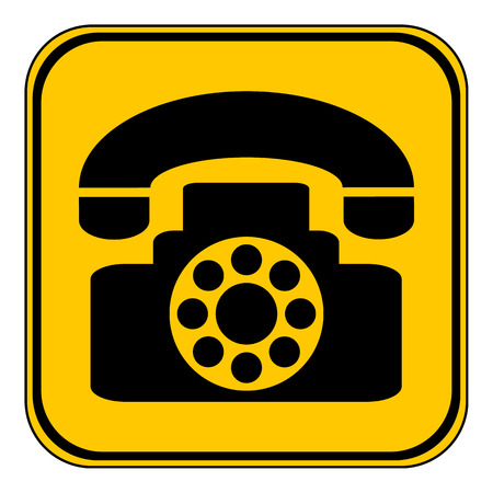 phone button: Phone button on white background. Vector illustration. Illustration