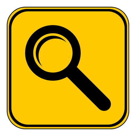backgroud: Search sign button on white backgroud. Vector illustration.