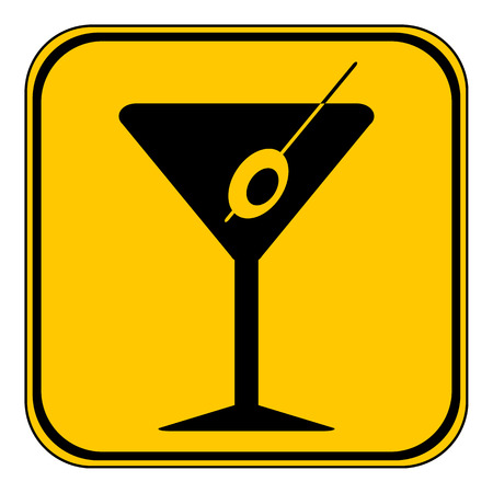 vermouth: Martini glass button on white background. Vector illustration.