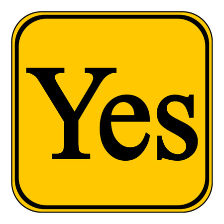 yes button: Yes button on white background. Vector illustration.