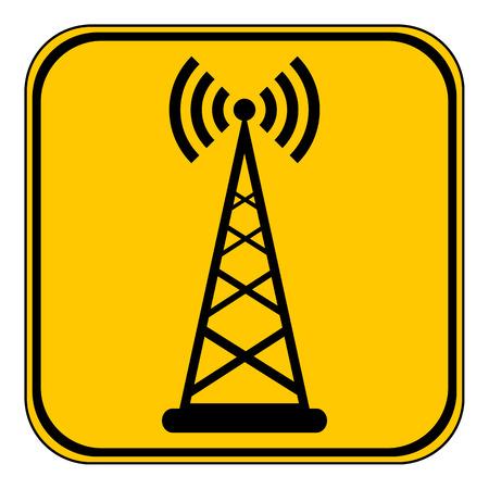 transmitter: Transmitter button on white background. Vector illustration.