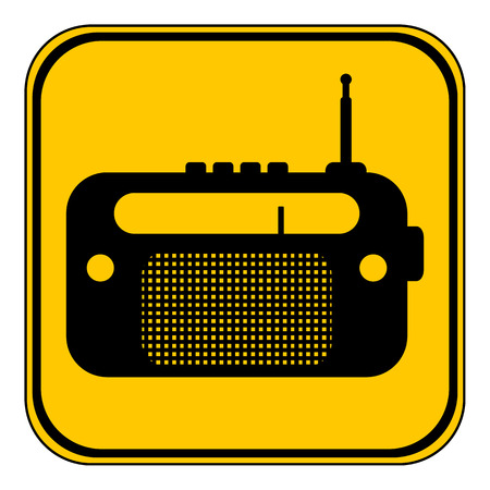Radio button on white background. Vector illustration.