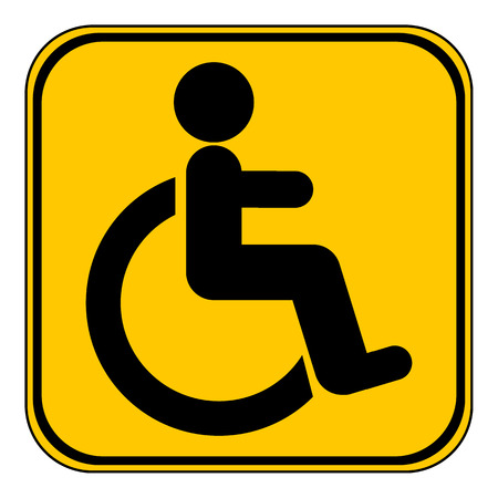 disabled sign: Disabled sign button on white background. Vector illustration.