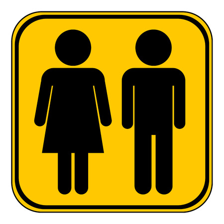 genders: Male and Female button on white background. Vector illustration.