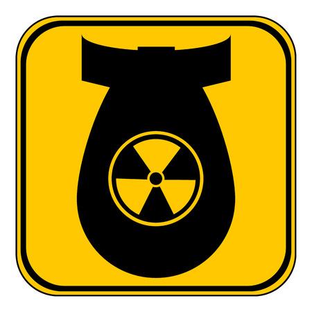 bombshell: Bomb button on white background. Vector illustration. Illustration