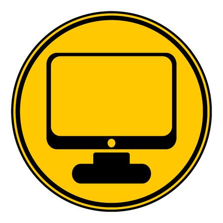 button computer: Bot�n del ordenador sobre fondo blanco. Ilustraci�n del vector. Vectores