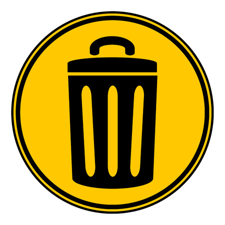 compost: Garbage button on white background. Vector illustration.