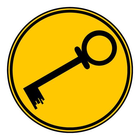 lockout: Key button on white background. Vector illustration. Illustration